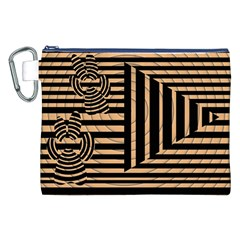 Wooden Pause Play Paws Abstract Oparton Line Roulette Spin Canvas Cosmetic Bag (xxl)