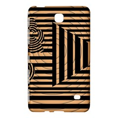 Wooden Pause Play Paws Abstract Oparton Line Roulette Spin Samsung Galaxy Tab 4 (7 ) Hardshell Case