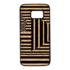 Wooden Pause Play Paws Abstract Oparton Line Roulette Spin Samsung Galaxy S7 Black Seamless Case