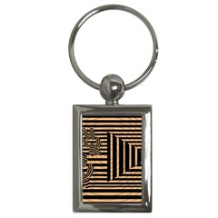 Wooden Pause Play Paws Abstract Oparton Line Roulette Spin Key Chains (rectangle)