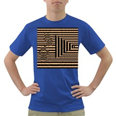 Wooden Pause Play Paws Abstract Oparton Line Roulette Spin Dark T Shirt