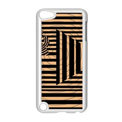 Wooden Pause Play Paws Abstract Oparton Line Roulette Spin Apple Ipod Touch 5 Case (white)