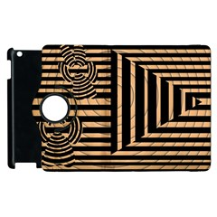 Wooden Pause Play Paws Abstract Oparton Line Roulette Spin Apple Ipad 3/4 Flip 360 Case