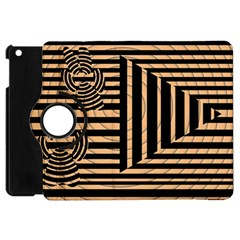 Wooden Pause Play Paws Abstract Oparton Line Roulette Spin Apple Ipad Mini Flip 360 Case