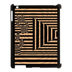 Wooden Pause Play Paws Abstract Oparton Line Roulette Spin Apple Ipad 3/4 Case (black)