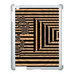 Wooden Pause Play Paws Abstract Oparton Line Roulette Spin Apple Ipad 3/4 Case (white)