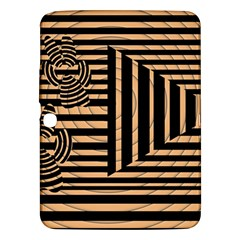 Wooden Pause Play Paws Abstract Oparton Line Roulette Spin Samsung Galaxy Tab 3 (10 1 ) P5200 Hardshell Case