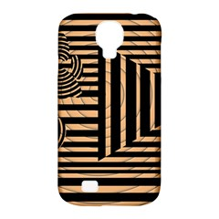 Wooden Pause Play Paws Abstract Oparton Line Roulette Spin Samsung Galaxy S4 Classic Hardshell Case (pc+silicone)