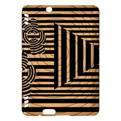 Wooden Pause Play Paws Abstract Oparton Line Roulette Spin Kindle Fire Hdx Hardshell Case