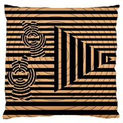 Wooden Pause Play Paws Abstract Oparton Line Roulette Spin Large Flano Cushion Case (one Side)