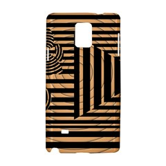 Wooden Pause Play Paws Abstract Oparton Line Roulette Spin Samsung Galaxy Note 4 Hardshell Case