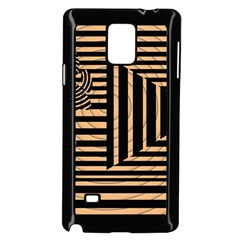 Wooden Pause Play Paws Abstract Oparton Line Roulette Spin Samsung Galaxy Note 4 Case (black)