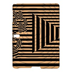 Wooden Pause Play Paws Abstract Oparton Line Roulette Spin Samsung Galaxy Tab S (10 5 ) Hardshell Case