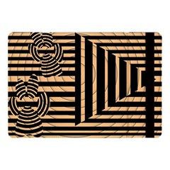 Wooden Pause Play Paws Abstract Oparton Line Roulette Spin Apple Ipad Pro 10 5   Flip Case