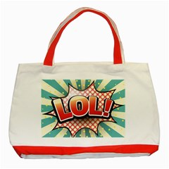 Lol Comic Speech Bubble  Vector Illustration Classic Tote Bag (red)