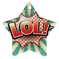 Lol Comic Speech Bubble  Vector Illustration Star Ornament (two Sides)