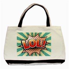 Lol Comic Speech Bubble  Vector Illustration Basic Tote Bag (two Sides)