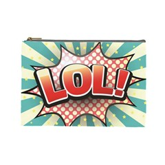 Lol Comic Speech Bubble  Vector Illustration Cosmetic Bag (large)