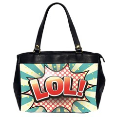 Lol Comic Speech Bubble  Vector Illustration Office Handbags (2 Sides)