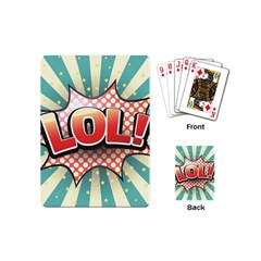 Lol Comic Speech Bubble  Vector Illustration Playing Cards (mini)