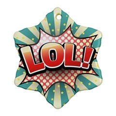 Lol Comic Speech Bubble  Vector Illustration Ornament (snowflake)