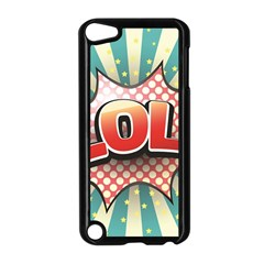 Lol Comic Speech Bubble  Vector Illustration Apple Ipod Touch 5 Case (black)