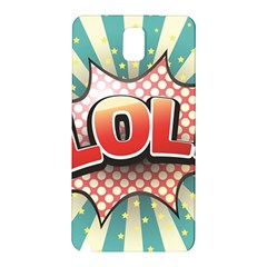 Lol Comic Speech Bubble  Vector Illustration Samsung Galaxy Note 3 N9005 Hardshell Back Case