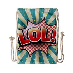 Lol Comic Speech Bubble  Vector Illustration Drawstring Bag (small)