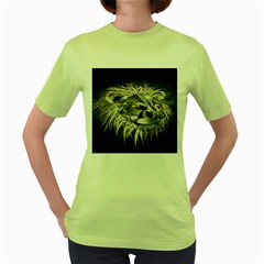Lion Robot Women s Green T Shirt