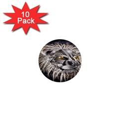 Lion Robot 1  Mini Buttons (10 Pack)