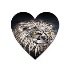Lion Robot Heart Magnet