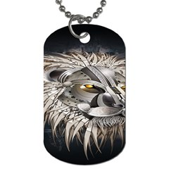 Lion Robot Dog Tag (two Sides)