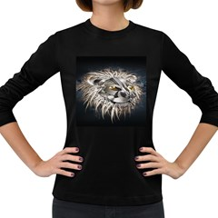 Lion Robot Women s Long Sleeve Dark T Shirts