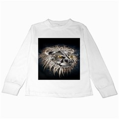 Lion Robot Kids Long Sleeve T Shirts