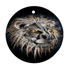 Lion Robot Round Ornament (two Sides)