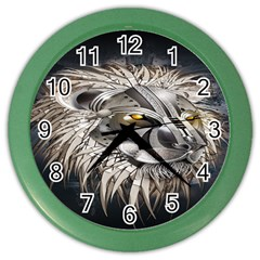 Lion Robot Color Wall Clocks
