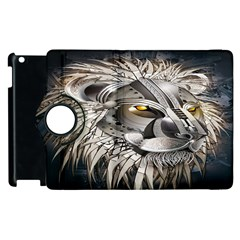 Lion Robot Apple Ipad 3/4 Flip 360 Case