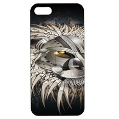 Lion Robot Apple Iphone 5 Hardshell Case With Stand