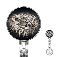 Lion Robot Stainless Steel Nurses Watch