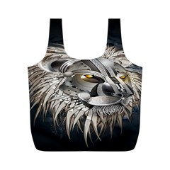 Lion Robot Full Print Recycle Bags (m)