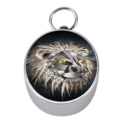 Lion Robot Mini Silver Compasses