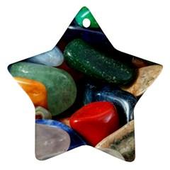 Stones Colors Pattern Pebbles Macro Rocks Ornament (star)