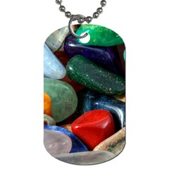 Stones Colors Pattern Pebbles Macro Rocks Dog Tag (two Sides)
