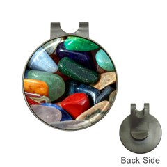 Stones Colors Pattern Pebbles Macro Rocks Hat Clips With Golf Markers