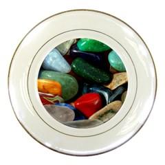 Stones Colors Pattern Pebbles Macro Rocks Porcelain Plates