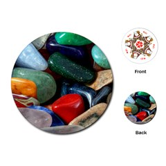Stones Colors Pattern Pebbles Macro Rocks Playing Cards (round)