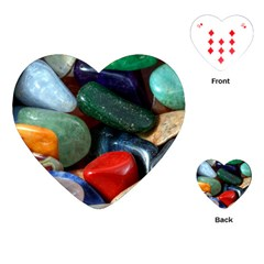 Stones Colors Pattern Pebbles Macro Rocks Playing Cards (heart)