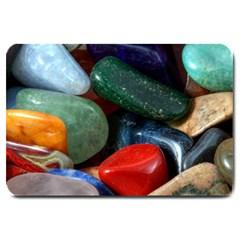 Stones Colors Pattern Pebbles Macro Rocks Large Doormat