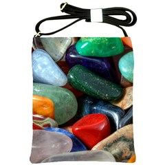 Stones Colors Pattern Pebbles Macro Rocks Shoulder Sling Bags