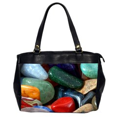 Stones Colors Pattern Pebbles Macro Rocks Office Handbags (2 Sides)